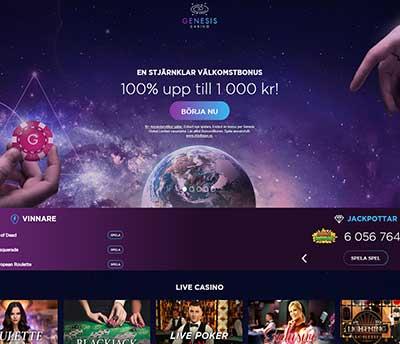 Genesis Casino Skarmbild